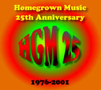 Homegrown Music 25th anniv. logo